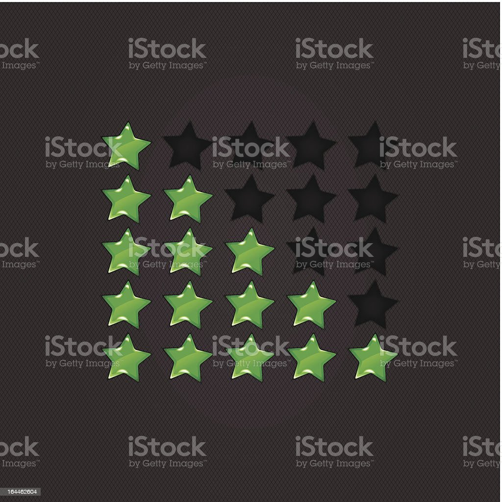Glossy Rating Stars green for web. vector illustration, eps10 royalty-free stock vector art