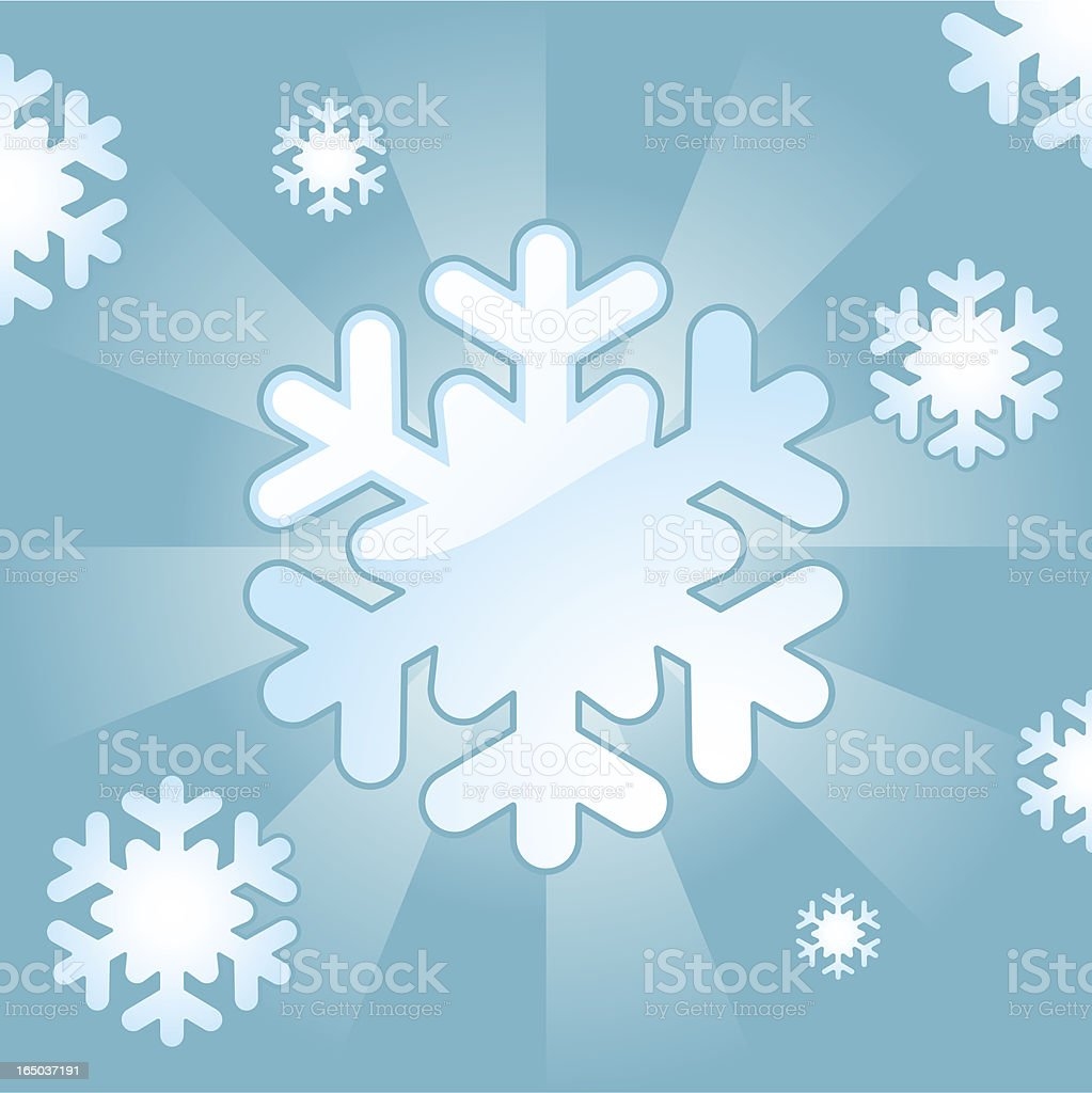 Glossy Snowflakes ( vector ) royalty-free stock vector art
