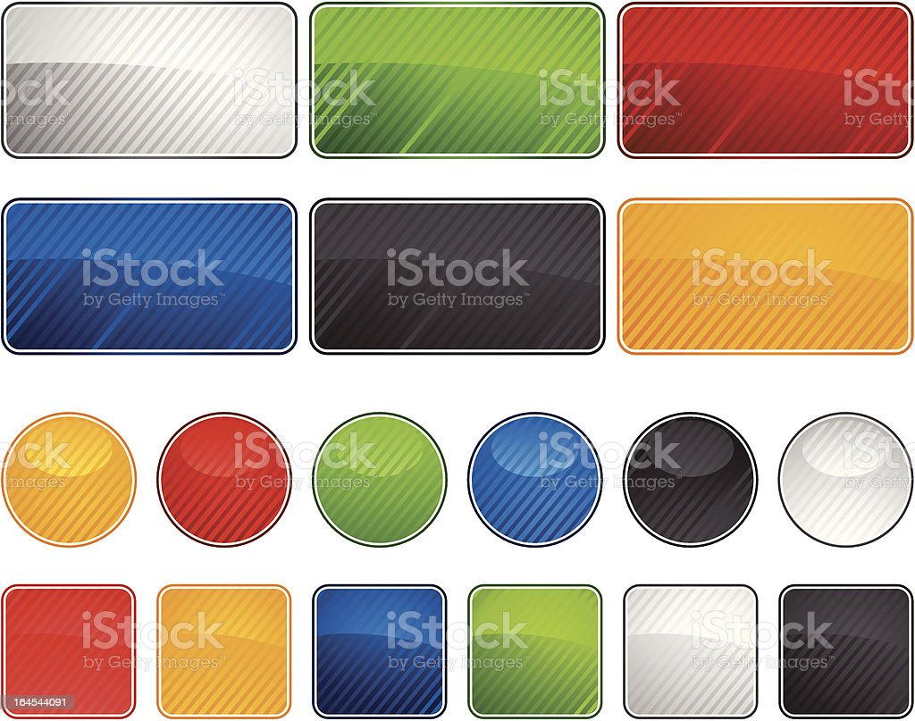 glossy  web buttons royalty-free stock vector art