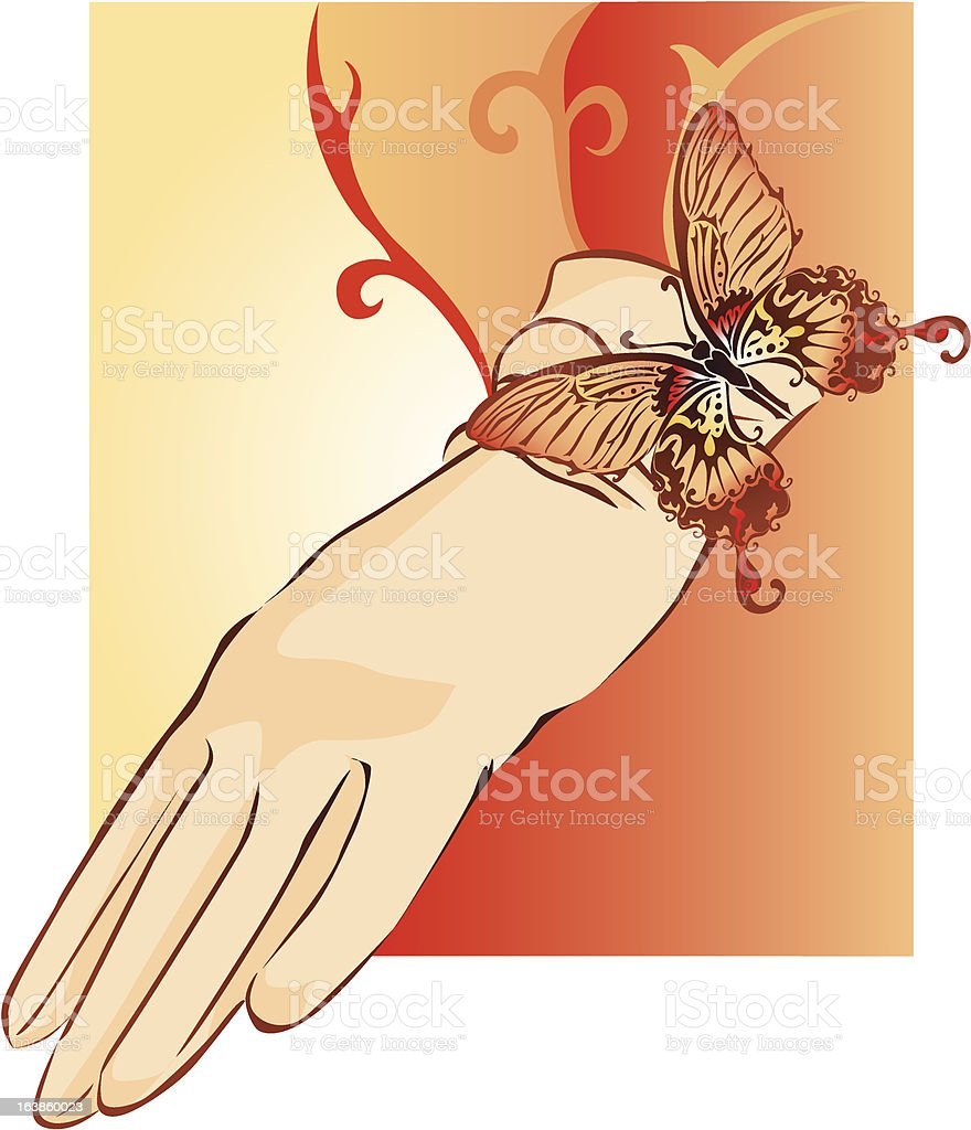 glove butterfly royalty-free stock vector art