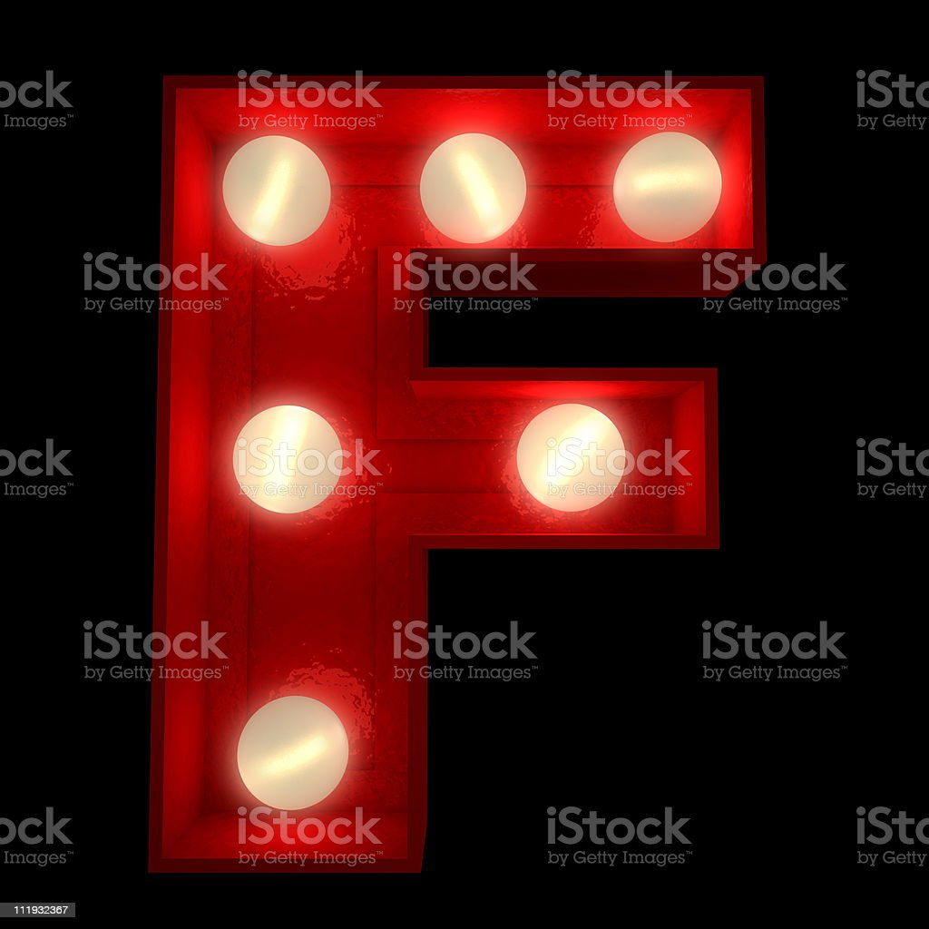 Glowing F royalty-free stock vector art