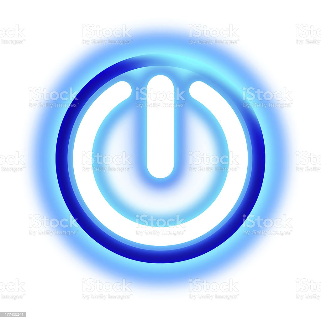 glowing power button royalty-free stock vector art