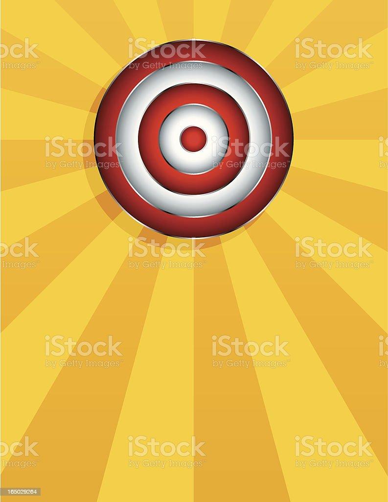 Glowing target (4 versions) royalty-free stock vector art