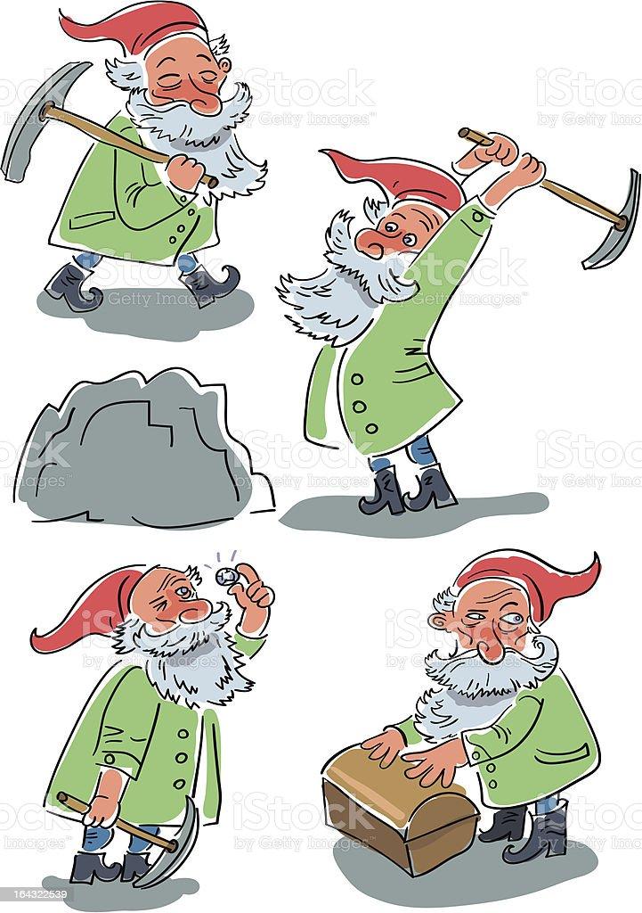 Gnomes vector art illustration