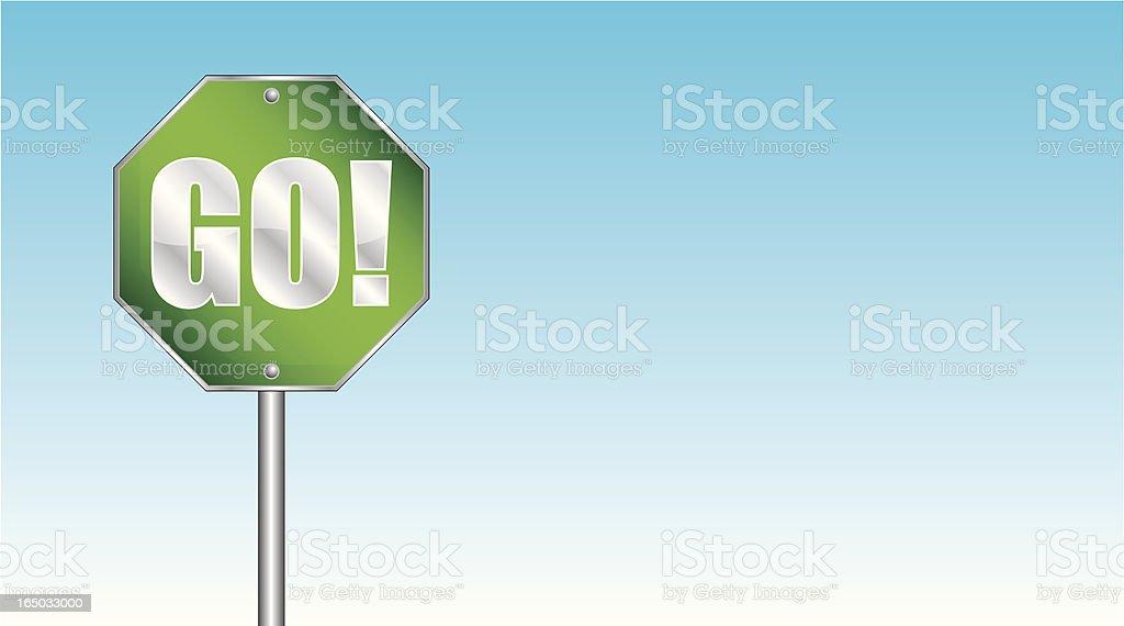 Go! (vector) royalty-free stock vector art