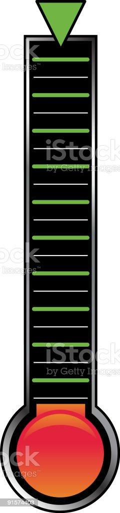Goal Indicator Bar royalty-free stock vector art