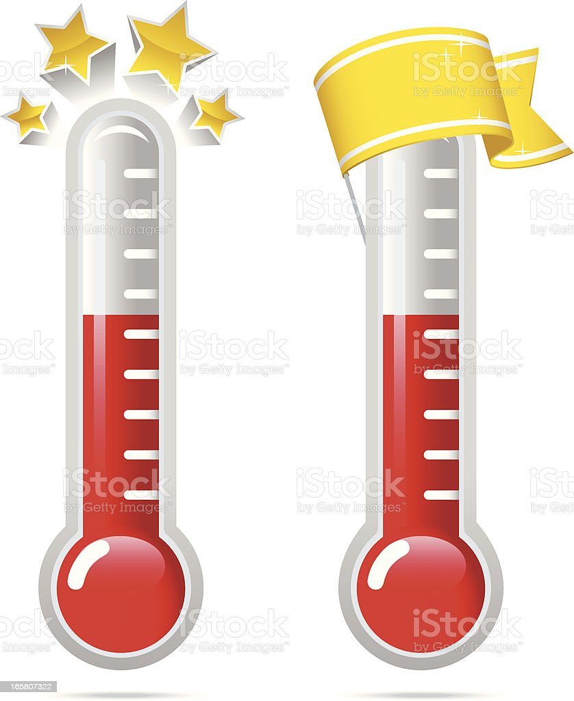 Goal Thermometers v2 vector art illustration