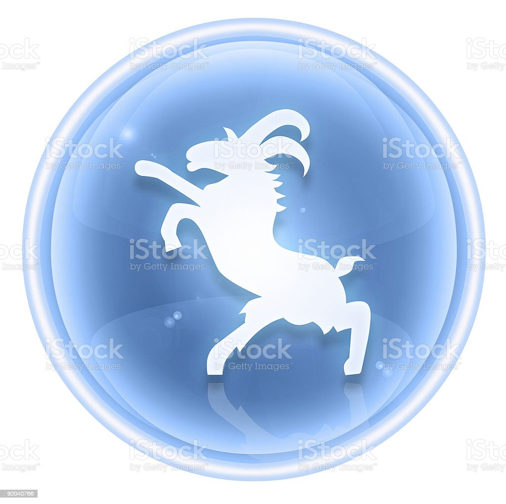 Goat Zodiac icon ice, isolated on white background. royalty-free stock vector art