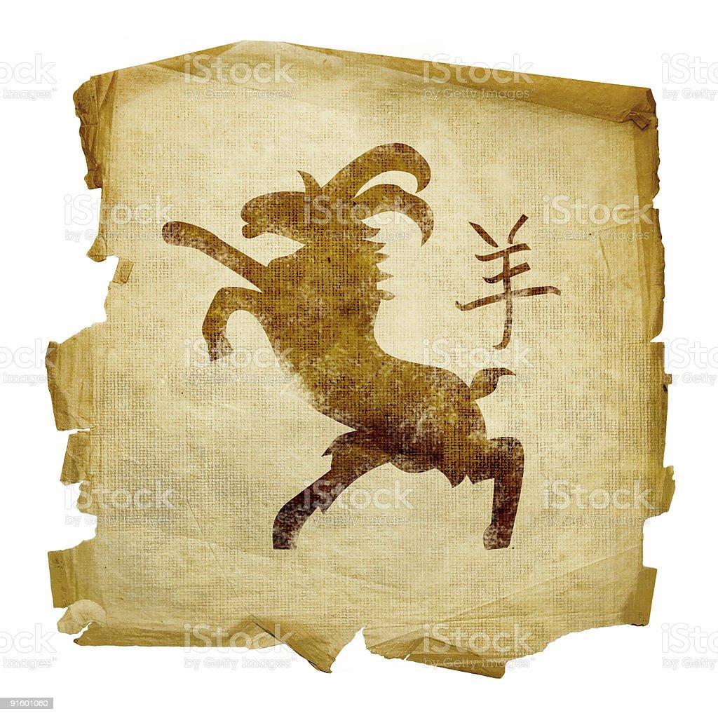 Goat Zodiac icon isolated on white background. royalty-free stock vector art