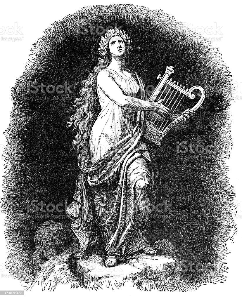 Goddess Iðunn vector art illustration