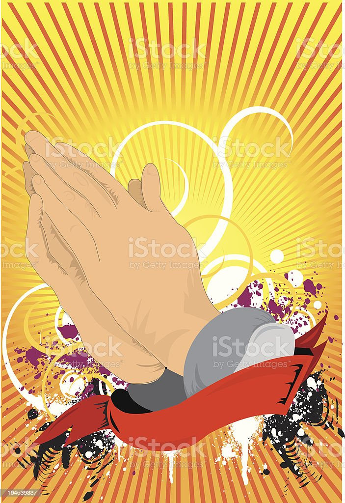 ...God's hands... royalty-free stock vector art