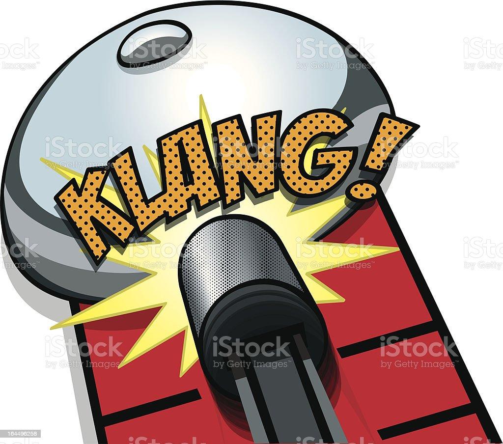KLANG Goes the High Striker! royalty-free stock vector art