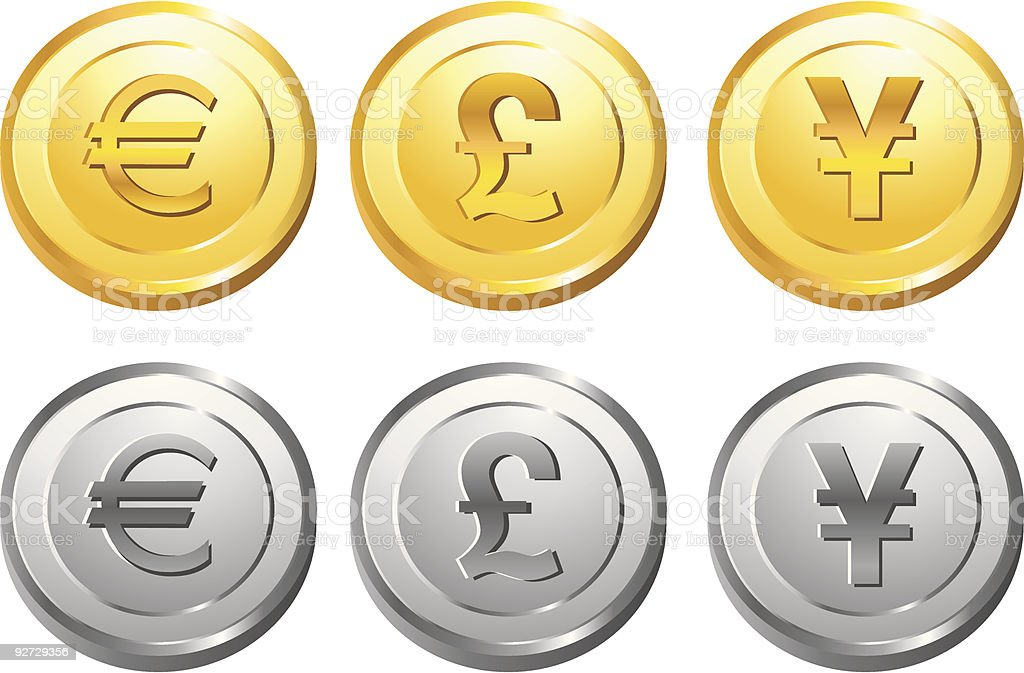 Gold and Silver Coin series 2 royalty-free stock vector art