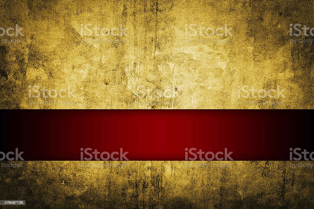 gold background with rich red ribbon vector art illustration