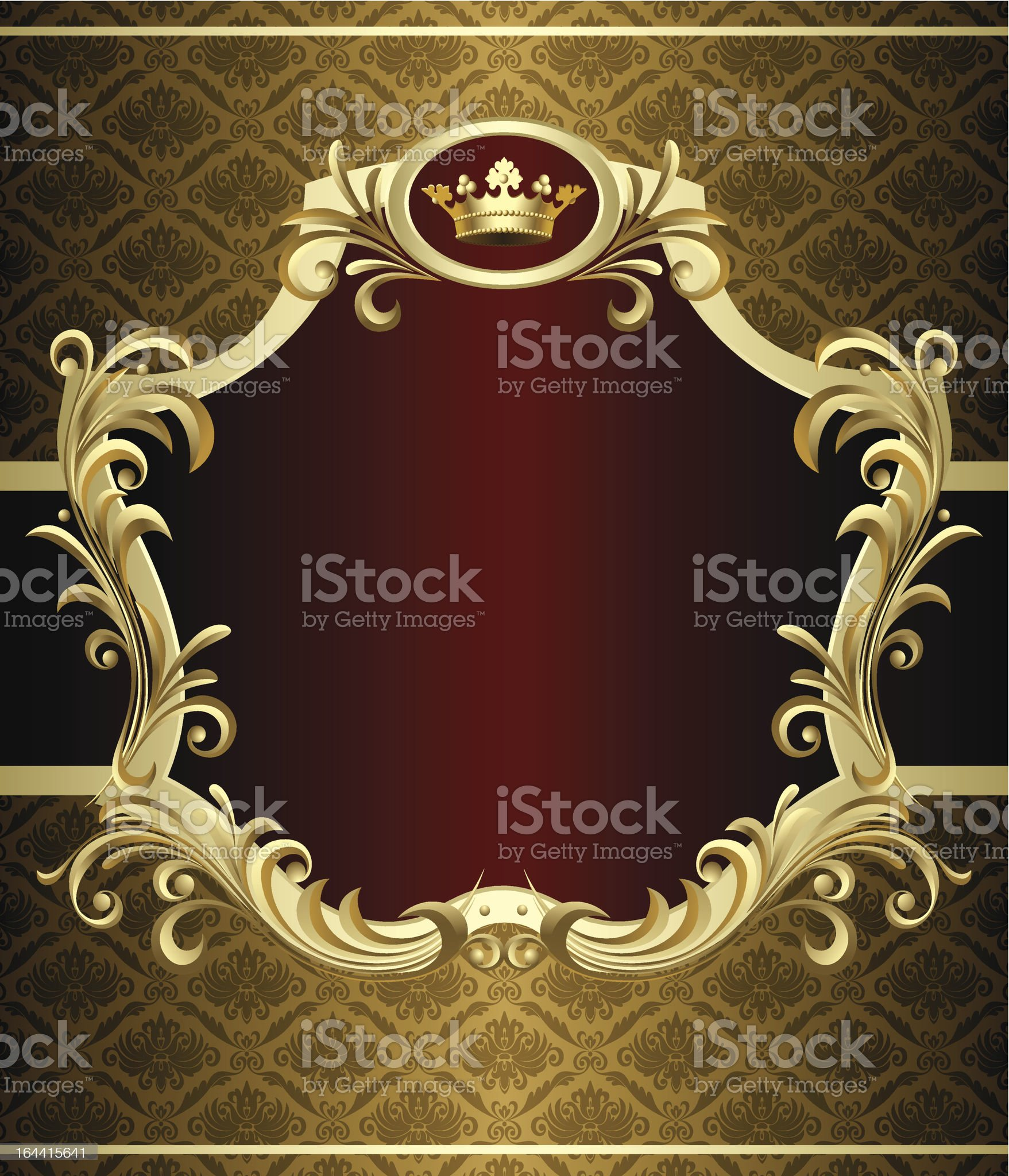 Gold banner royalty-free stock vector art