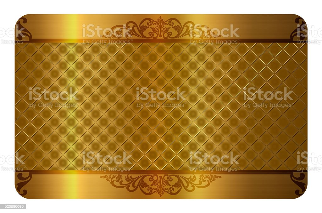Gold business or gift card template. vector art illustration