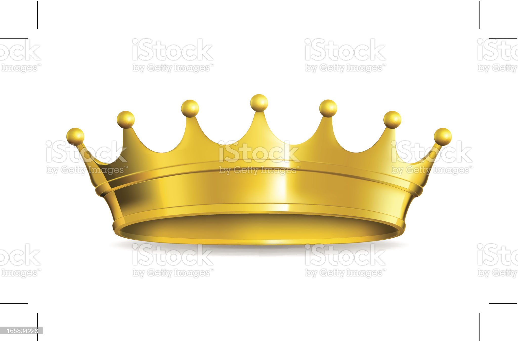 Gold crown royalty-free stock vector art