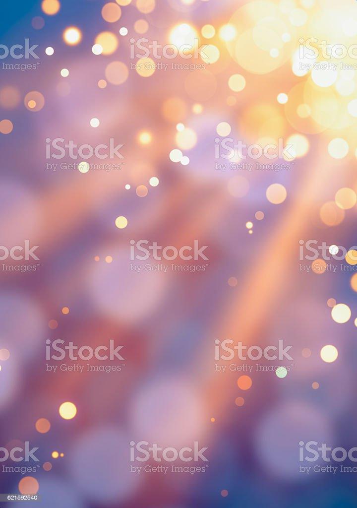 Gold defocused lights background vector art illustration