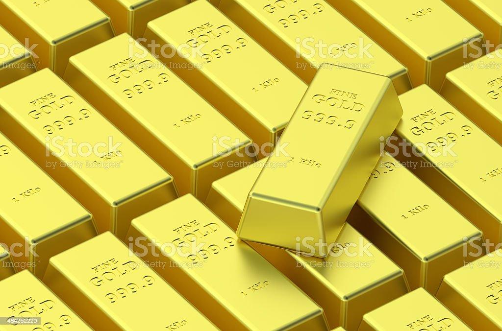 gold delivery bars vector art illustration