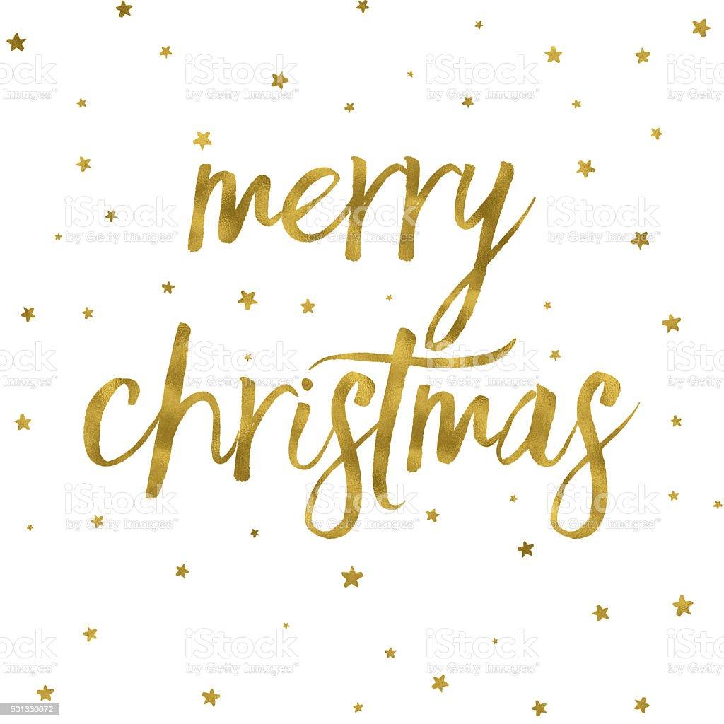 Gold effect Merry Christmas background vector art illustration