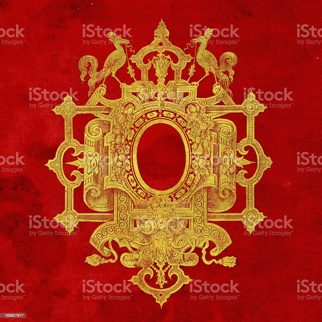 Gold Embossed Crest royalty-free stock photo