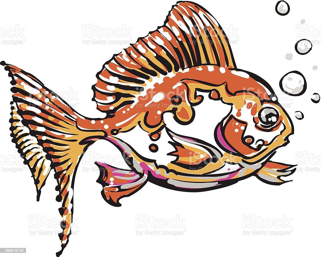 Gold fish royalty-free stock vector art