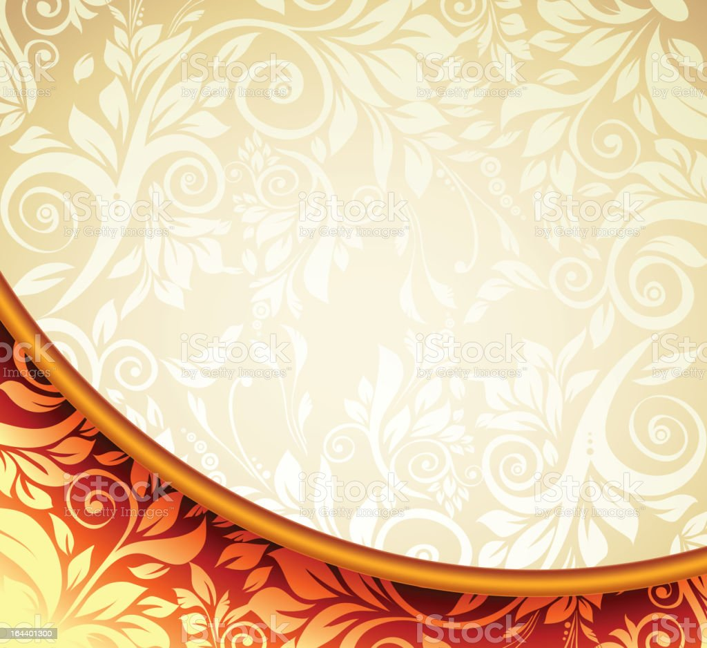 Gold Floral Pattern Background. royalty-free stock vector art