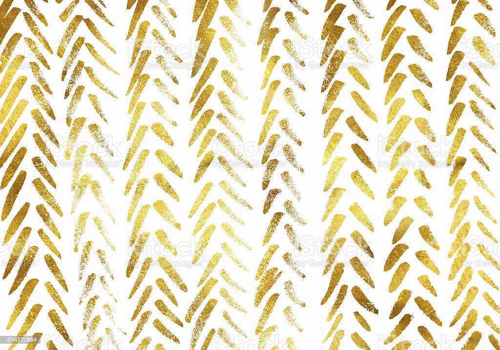 Gold foil hand drawn background vector art illustration