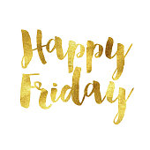 Gold foil Happy Friday message