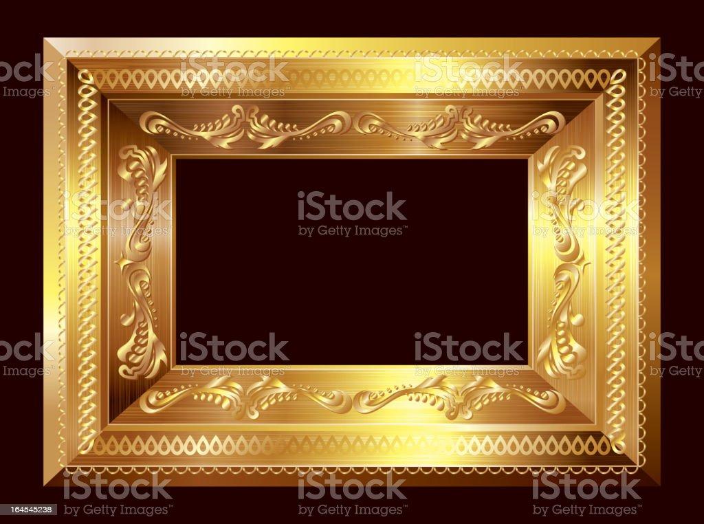 Gold frame vector art illustration