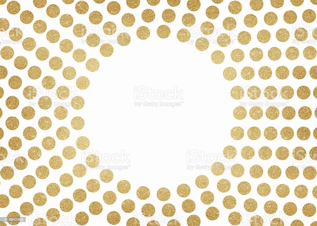 Gold glitter circles background vector art illustration