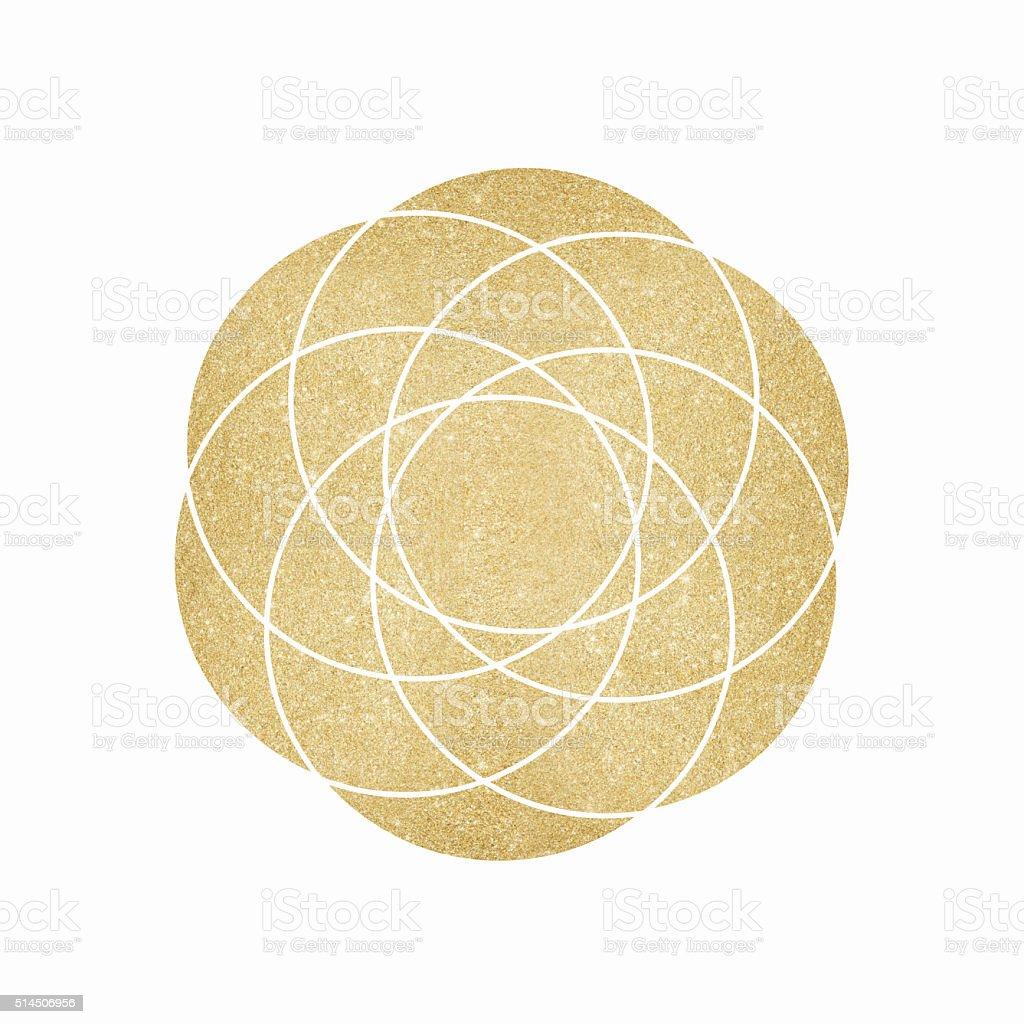 Gold glitter geometric background vector art illustration