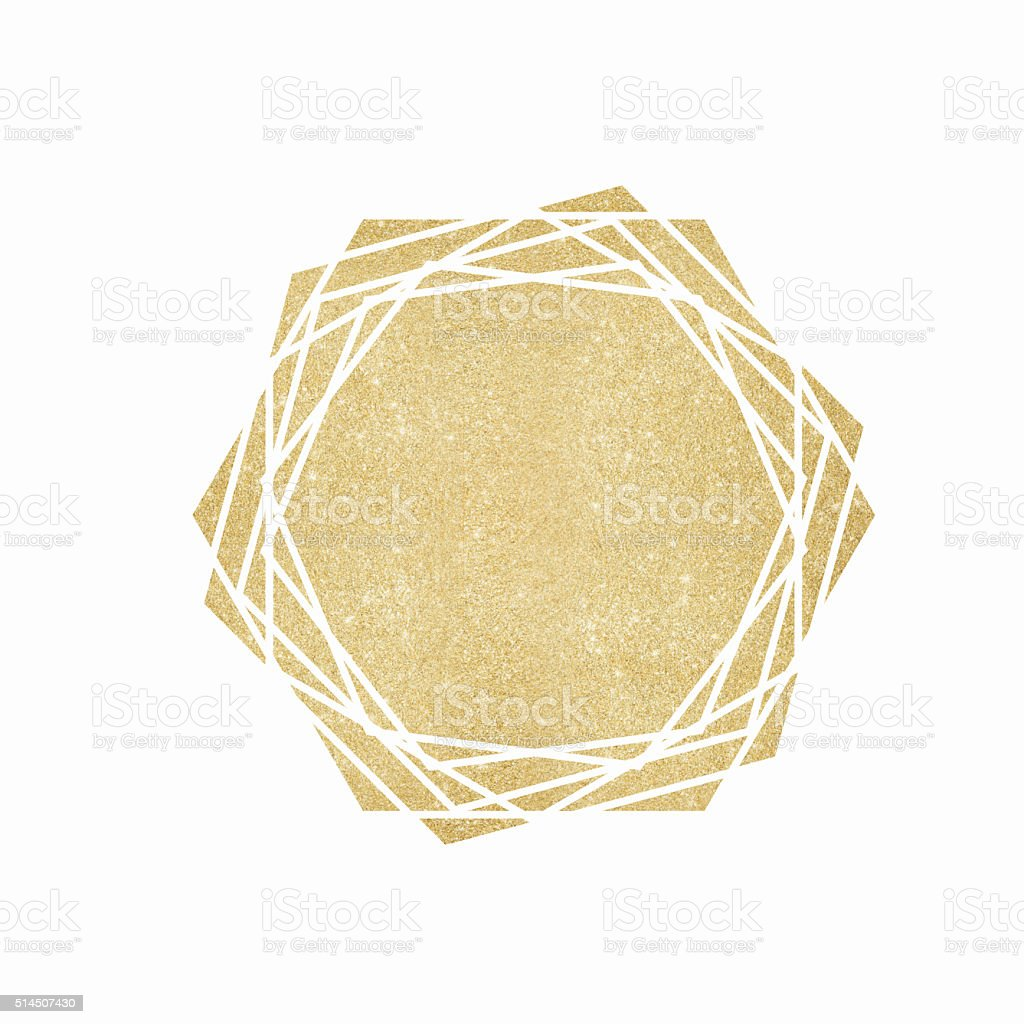 Gold glitter geometric background vector art illustration