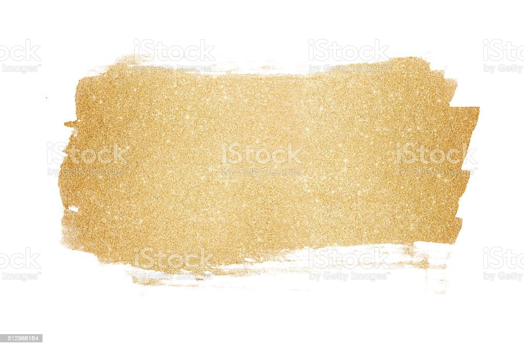 Gold glitter painted background vector art illustration