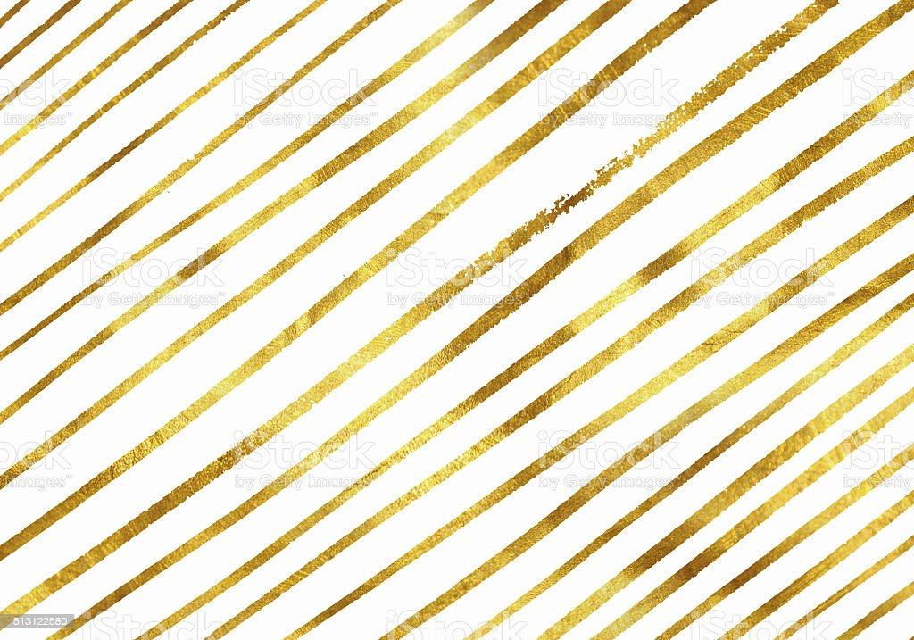 Gold glitter painted background vector art illustration