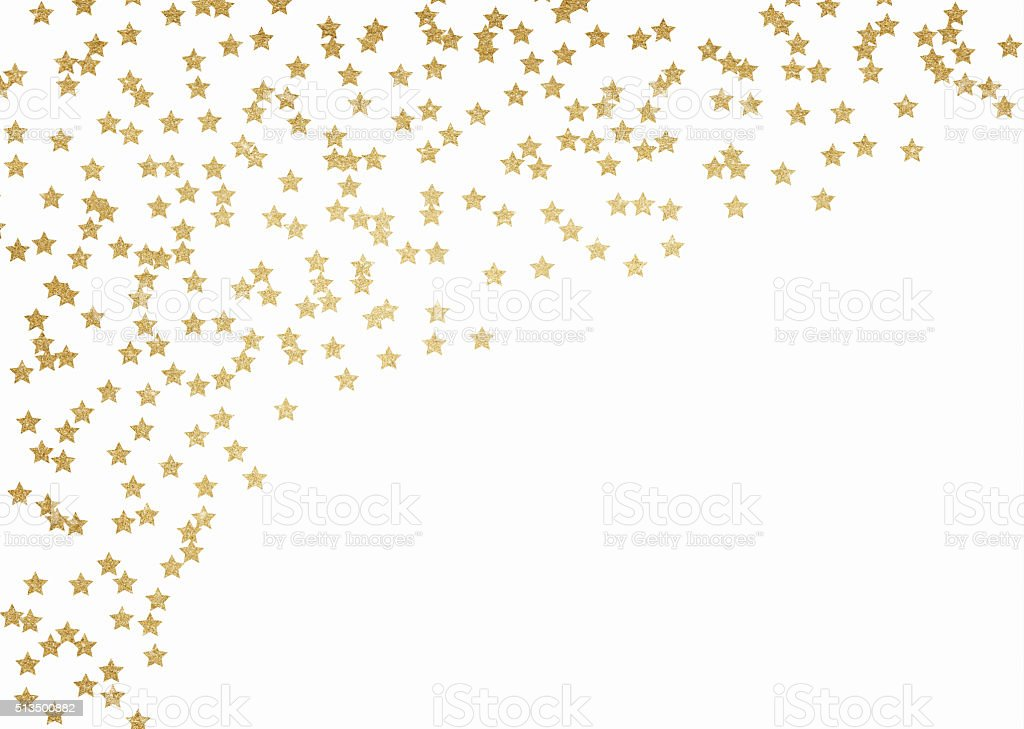 Gold glitter stars background vector art illustration