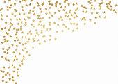 Gold glitter stars background
