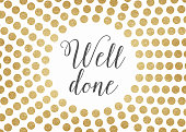 Gold glitter well done background