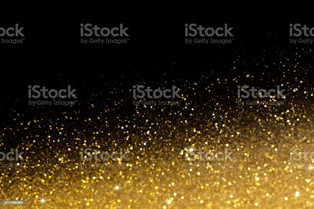 Gold glittering bokeh abstract background vector art illustration