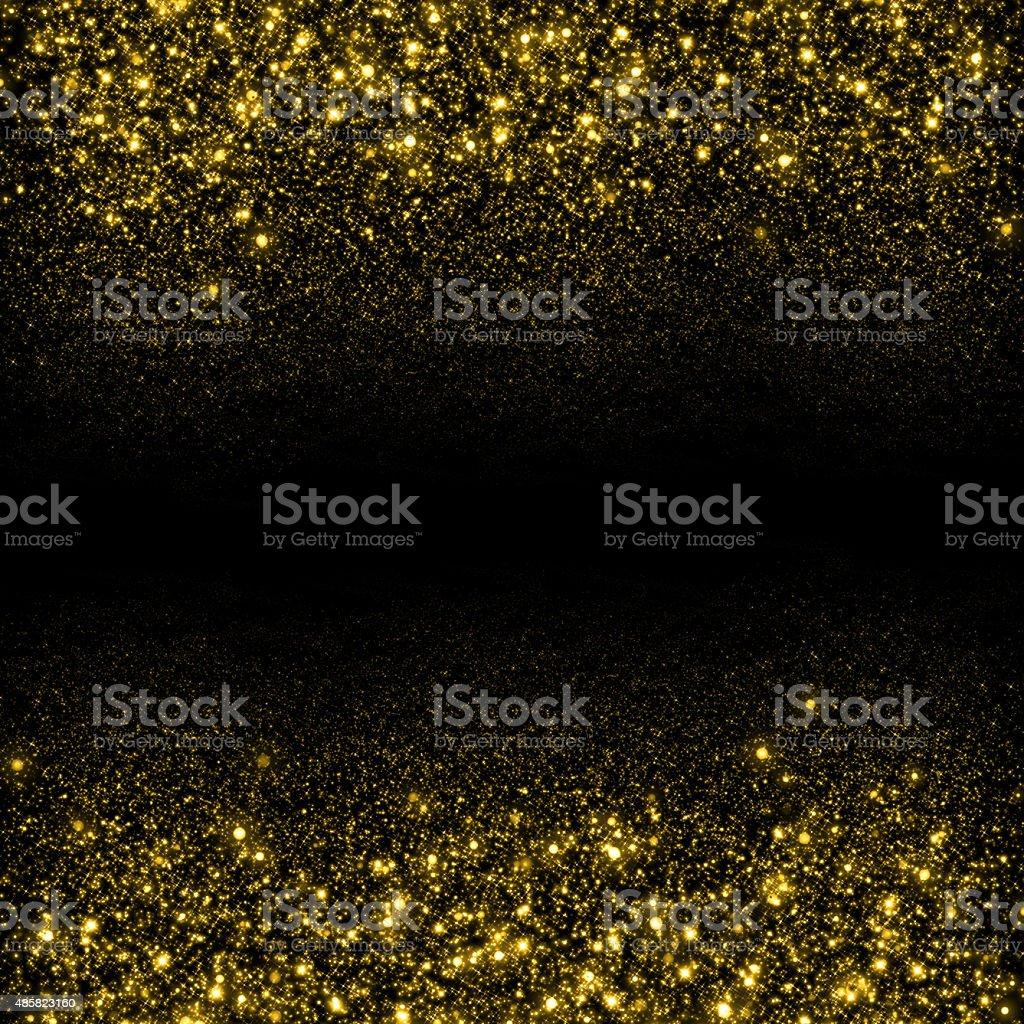 Gold glittering sparks background vector art illustration