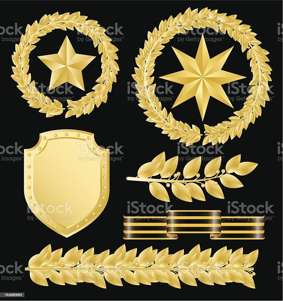 Gold laurels royalty-free stock vector art