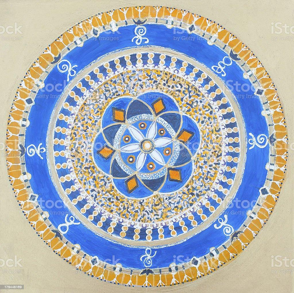 Mandala de oro illustracion libre de derechos libre de derechos