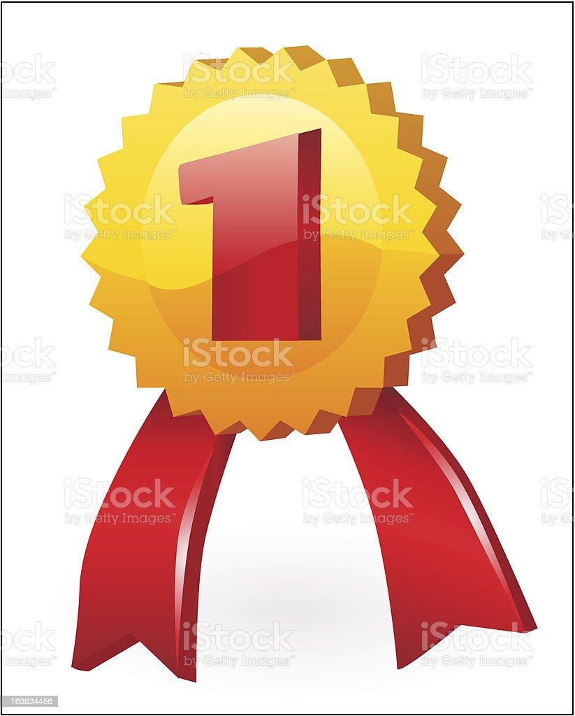 Gold medal. royalty-free stock vector art