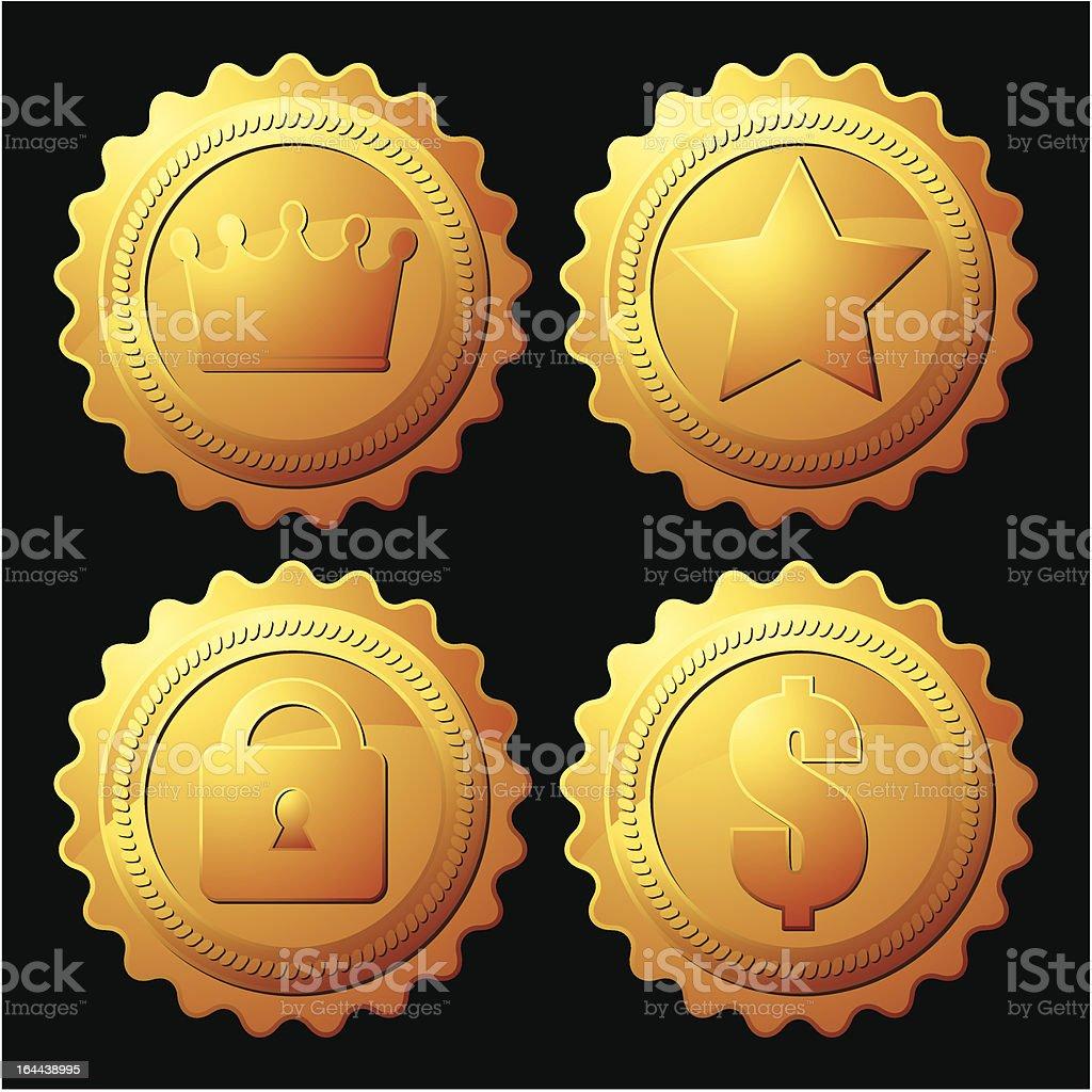 gold medallion royalty-free stock vector art