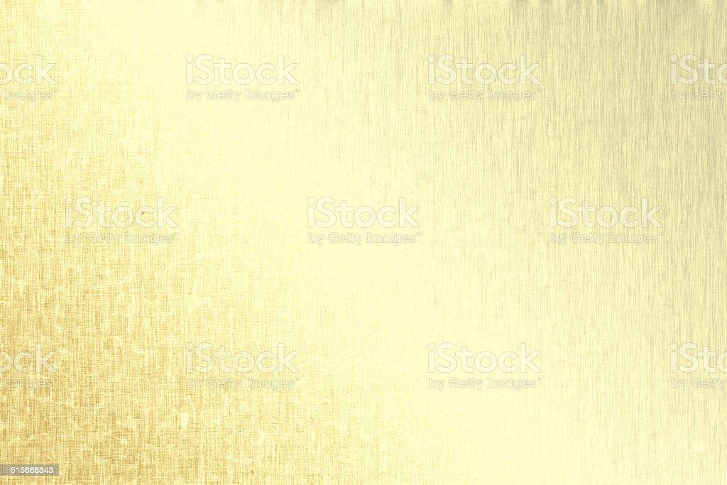 Gold metallic background, linen texture, bright festive background vector art illustration