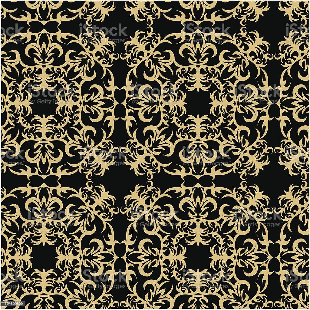 gold ornamental seamless royalty-free stock vector art