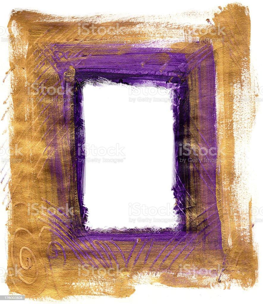 Gold Painted Frame vector art illustration