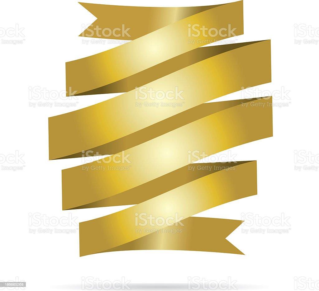 Gold ribbon banner royalty-free stock vector art