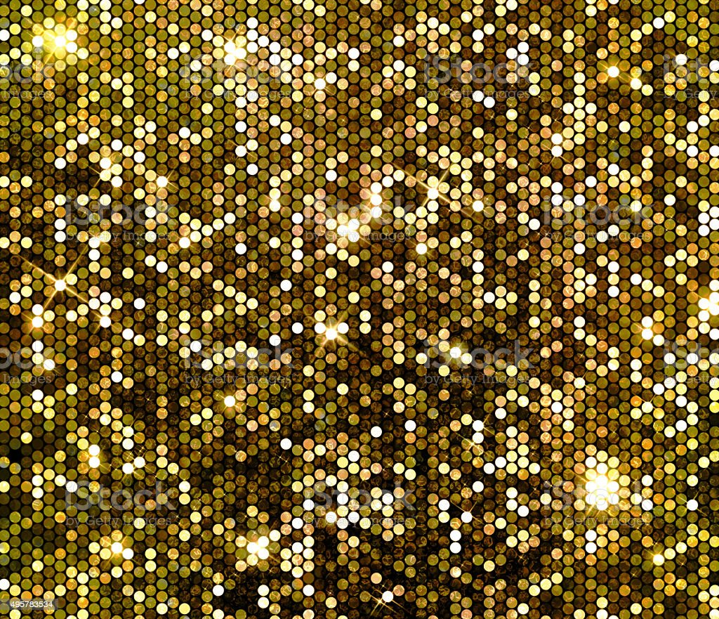 Gold sparkle glitter sequins background stock photo