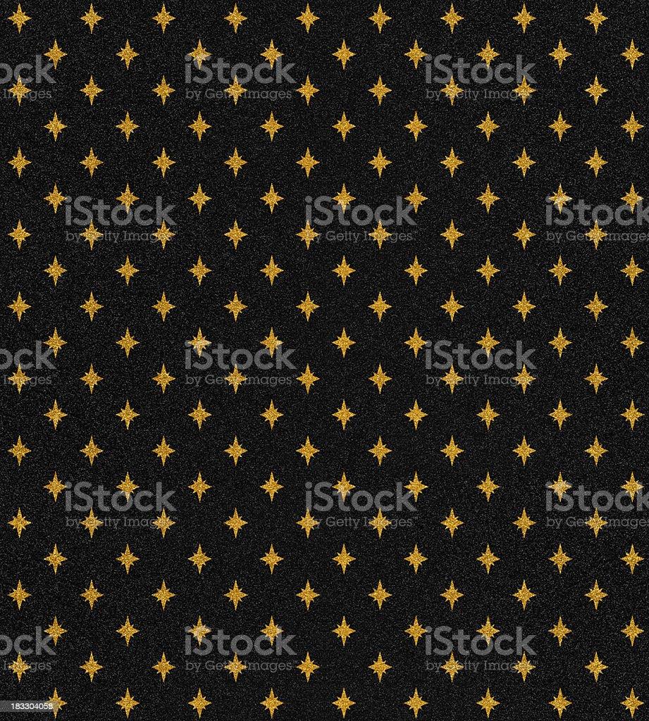 gold stars on black glitter royalty-free stock vector art